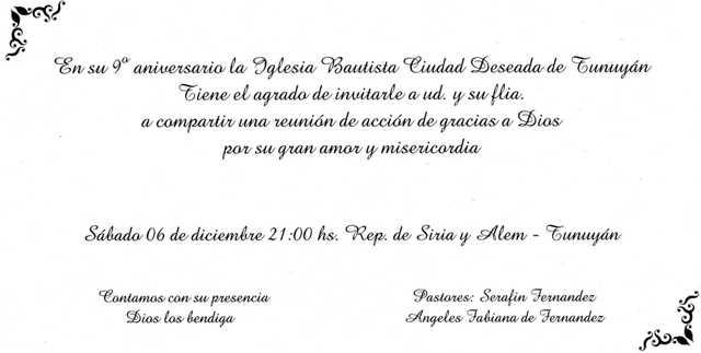 Modelo De Invitación De Aniversario De Iglesia Cristiana