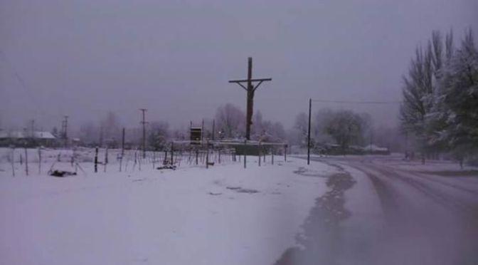 Una intensa nevada sorprende al Manzano