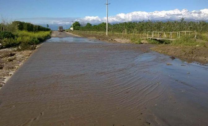 Casas derrumbadas por fuerte temporal en el Valle de Uco